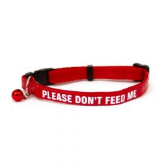 Great&Small Please Don't Feed Cat Collar