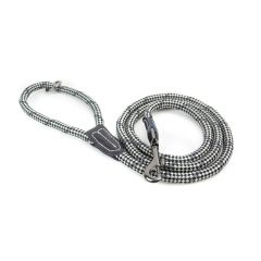 Great&Small Black/Grey Rope Trigger Lead With Leather