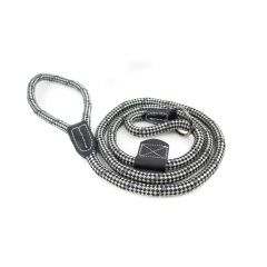 Great&Small Black/Grey Rope Slip Lead With Leather