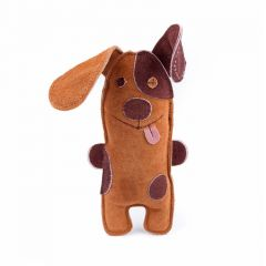 Great&Small 100% Suede Leather Two Tone Dog