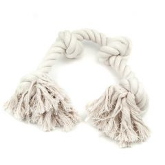 Great&Small Cotton Rope Bone With 4 knots