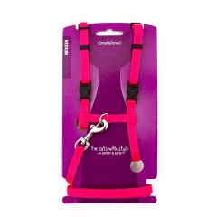 Great&Small Cat Harness & Lead Pink