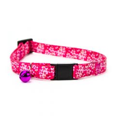Great&Small Pink Blossom Cat Collar