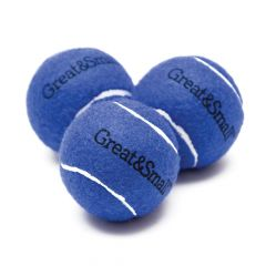 Great&Small Squeaky Blue Tennis Ball (3)