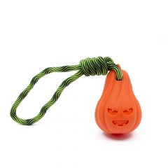 Great&Small Frubba Pumpkin & Rope Treat Toy