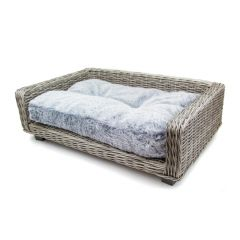 Great&Small Premium Grey Washed Effect Wicker Raised Bed